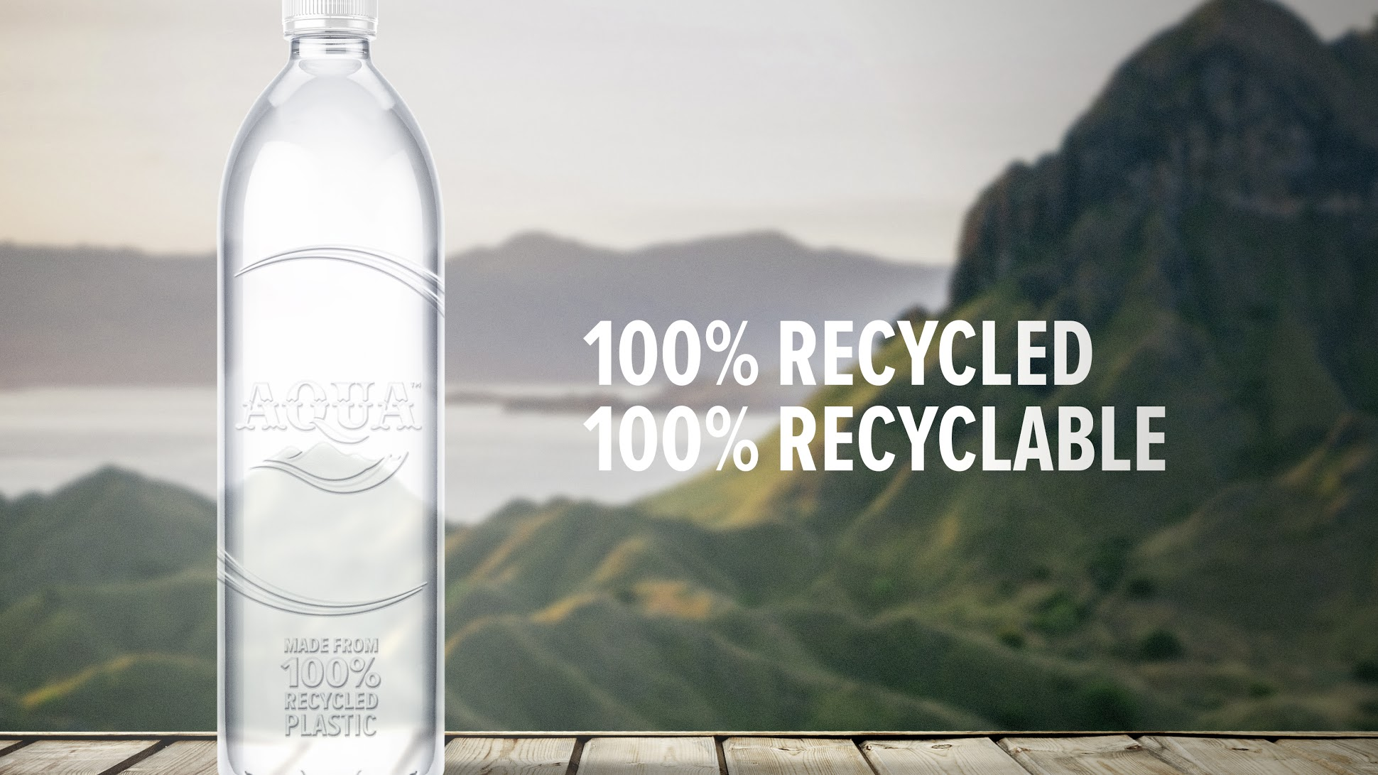 AQUA Indonesia. Asian Water Giant Launches 100% Recycled Plastic Edition.